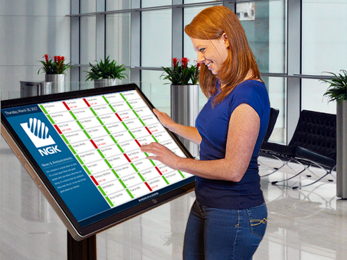 Large Screen Interactive Kiosk Display