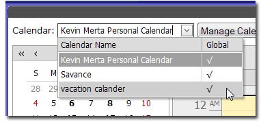 Manage Multiple Calendars