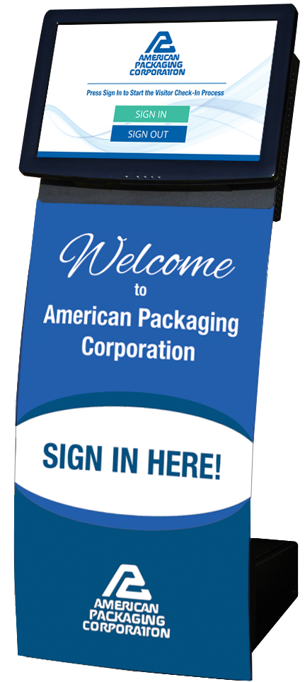 American Packaging Corporation Visitor Management/Employee Kiosk