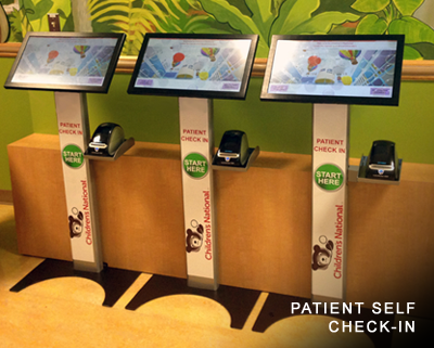 Children's National Patient Self Check-In Screens