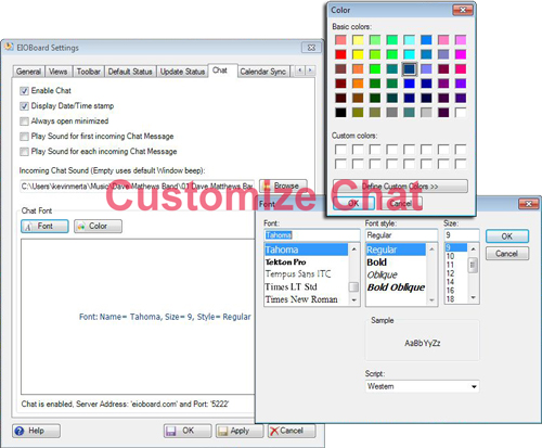 Customize chat