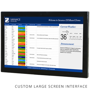 Customizable Large Screen Display Interface