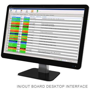 Desktop Interface for In/Out Status Board