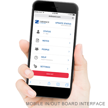 Mobile In & Out Board App