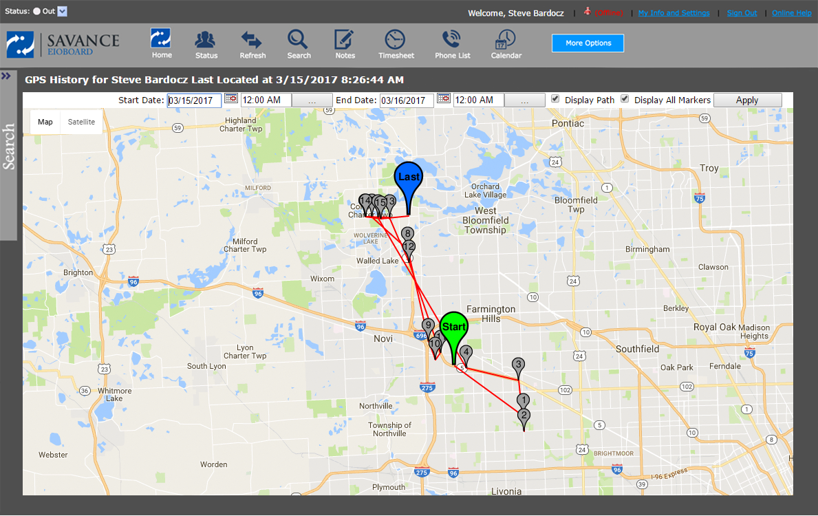 EIOBoard GPS location tracking