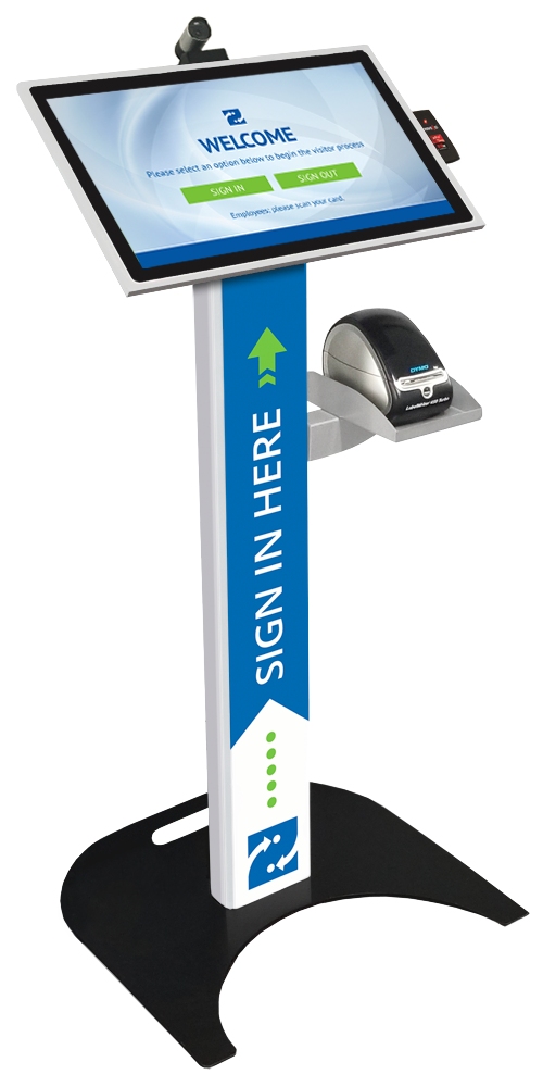 Podium Kiosk with custom decal, and add-ons