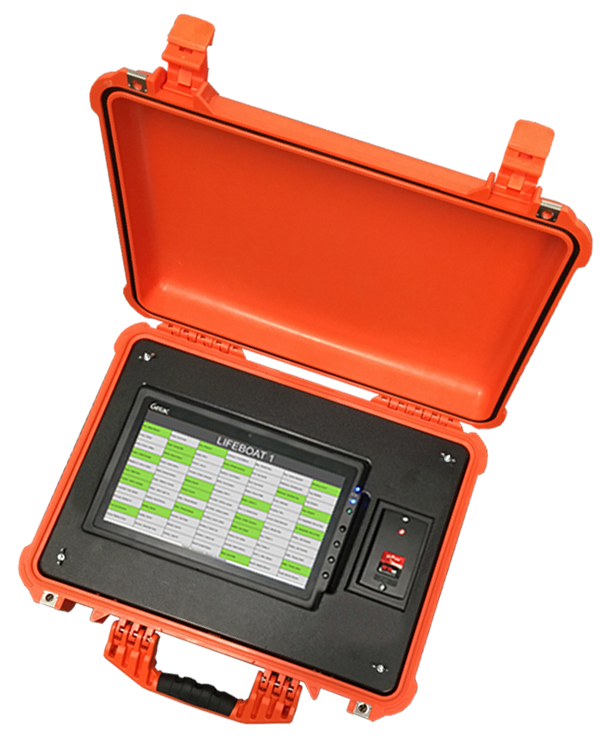 EIOBoard Emergency Mustering in Custom Rugged PoE Muster Case