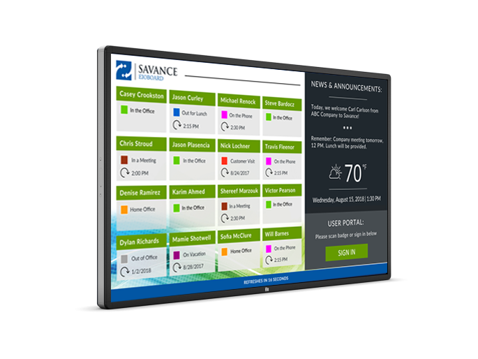 70in Touch Screen Kiosk for Visitor Management & Staff Tracking
