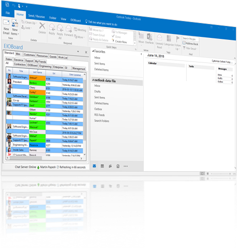 EIOBoard Outlook Interface