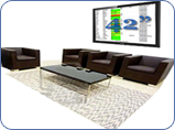Large Screen Display in and Entrance or Lobby