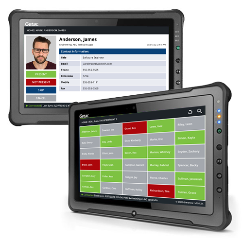 EIOBoard Emergency Mustering software and rugged tablet