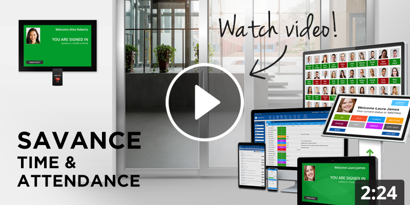 Savance Time & Attendance Overview Video