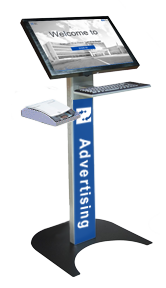 22 inch Patient Sign-In with custom front decal and ID card scanner