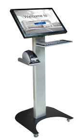 22 inch Patient Sign-In with Keyboard, Printer on Casters