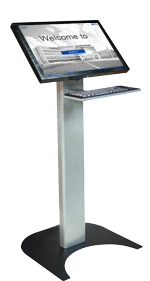 22' Touch Screen Kiosk with Floor Stand