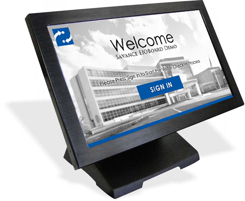 10in Visitor Management Display with Desktop Stand