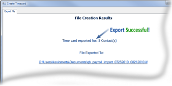 Export Confirmation