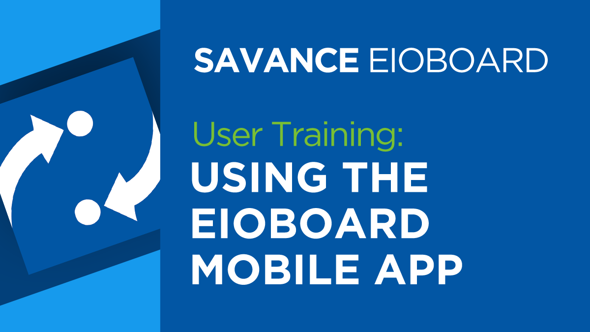 Using the EIOBoard Mobile App